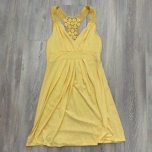 Charlotte Russe medium light yellow crochet dress